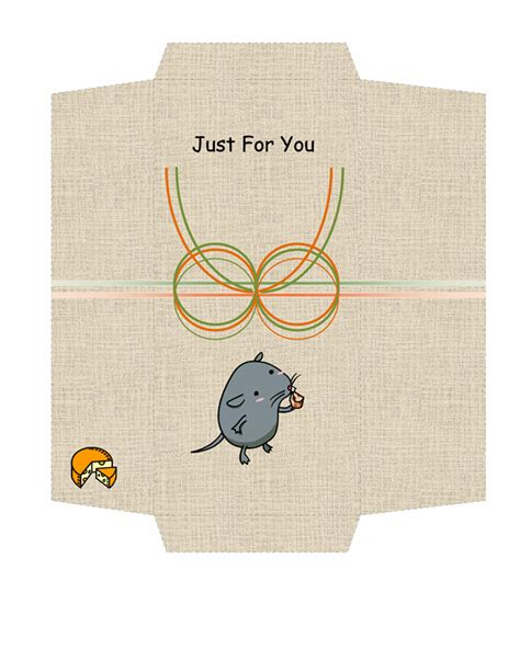 money envelope template money envelope mouse and cheese design free