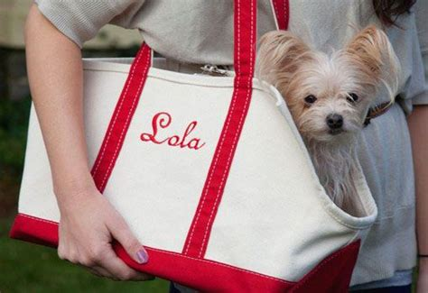 personalized monogrammed dog carrier personalized gifts