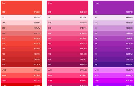 get color get material design color hex values child task rorycodes