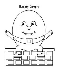 humpty dumpty spread his hand wide coloring pages