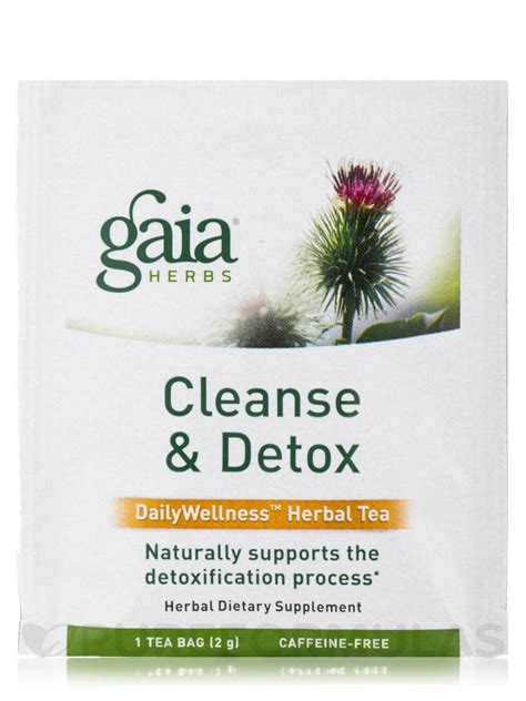 Gaia Herbs Cleanse And Detox Tea Reviews by Cleanse Detox Tea 16 Tea Bags 1 13 Oz 32 Grams