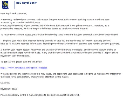 Royal Bank Letter Knowing How To Think Email Junk Box Scams Fakes And Spam In My Email Re Restore Your Royal Bank