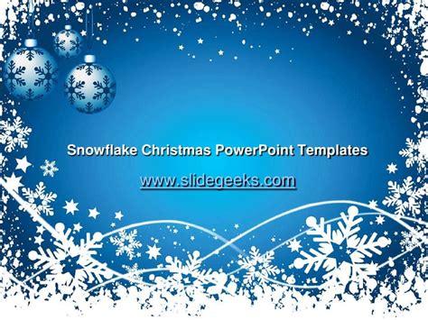 Snowflake Christmas Power Point Templates Snowflake Powerpoint
