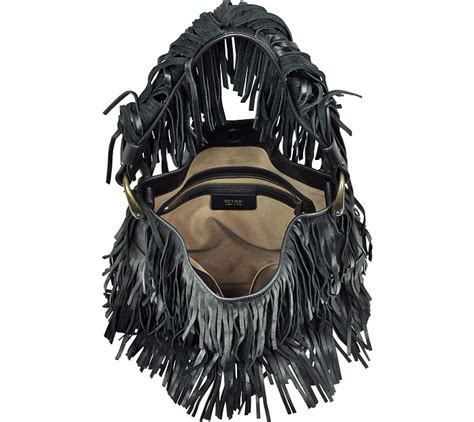 Roberto Cavalli Acapulco Large Hobo by Roberto Cavalli Thalia Black Fringed Nappa Hobo Bag At