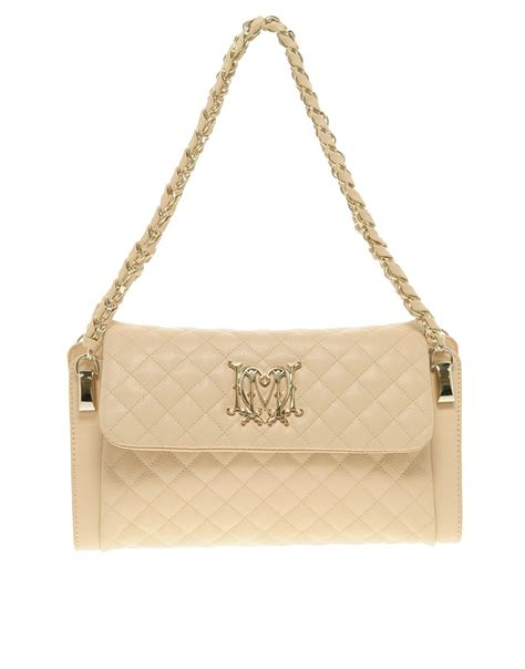 Beige Quilted Bag moschino quilted shoulder bag in beige lyst
