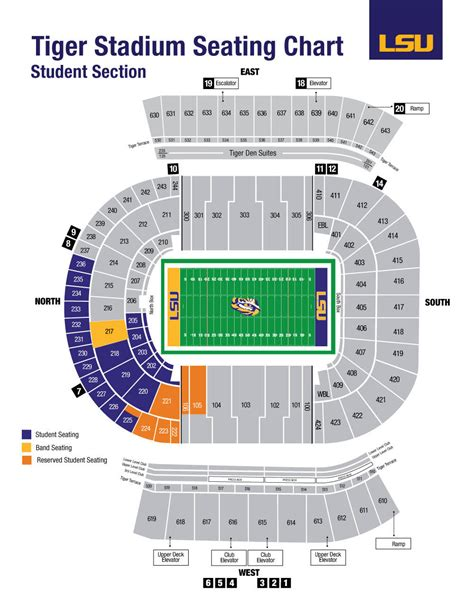 lsu student section tiger stadium lsu athletics facilities student seating charts