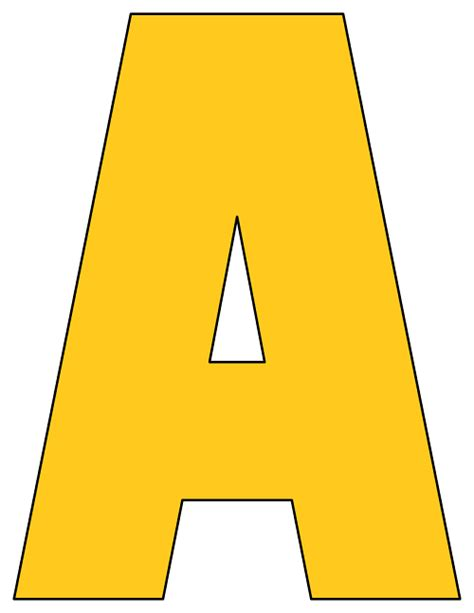 printable yellow letters printable cut out letters