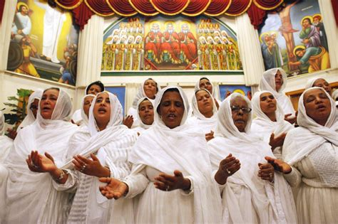 ethiopian orthodox christian church women embrace ancient traditions of covering picture