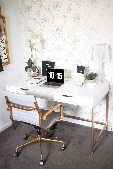 How To Decorate My Living Room by White And Gold Desk Ikea Hack Money Can Buy Lipstick