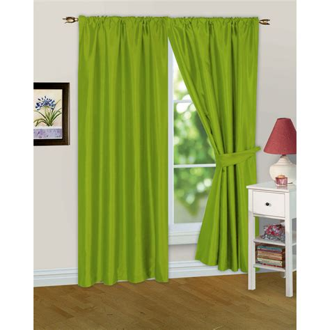 drapes lined faux silk ready made fully lined modern window curtains