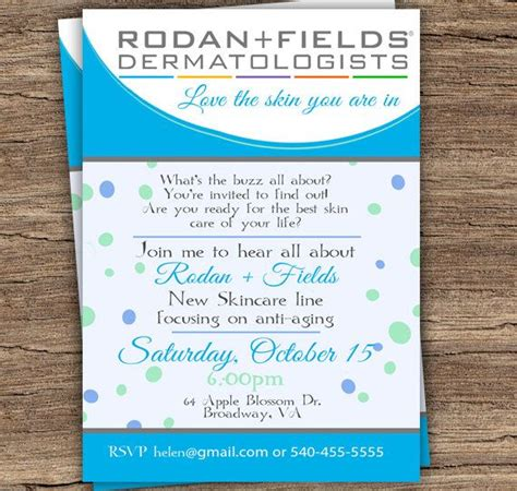 Business Launch Invitation Templates Free editable rodan and fields invitation diy by