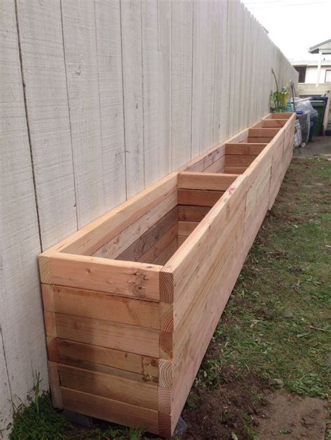 Outdoor Planter Box Ideas by 25 Best Narrow Backyard Ideas On Diy Planter