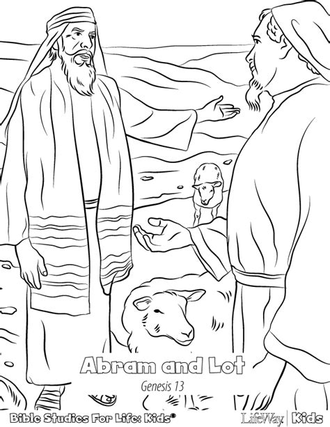 coloring page abraham and lot lot coloring pages abraham and bible grig3 org