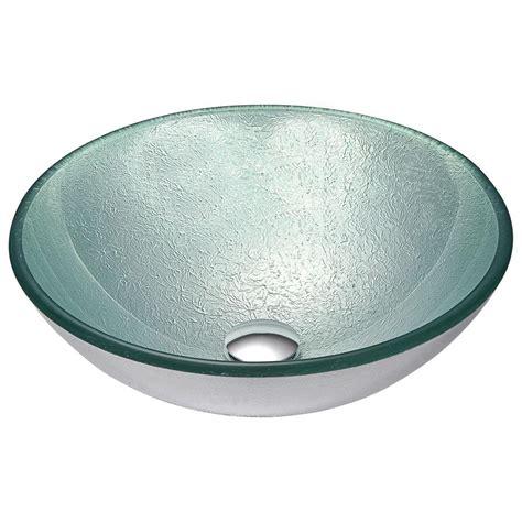 home depot kitchen ls anzzi spirito series deco glass vessel sink in churning