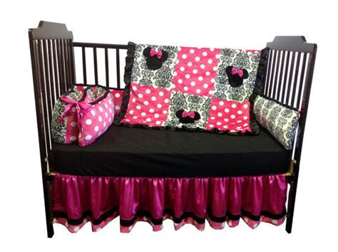 Minnie Crib Set by Minnie Mouse Crib Bedding Set Regular From Babytwin On Etsy