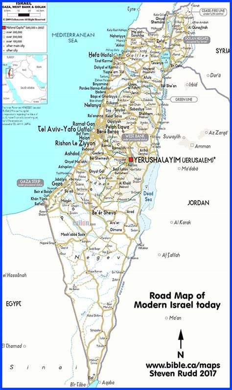 printable map israel map of israel today my blog