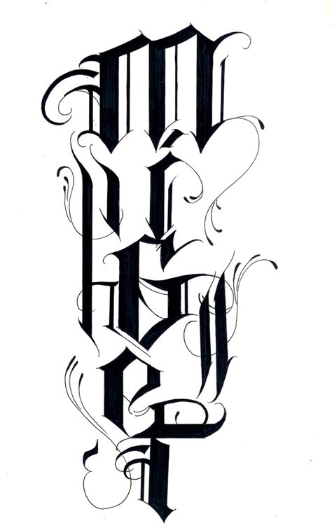 tribal tattoo lettering tribal letter tattoos