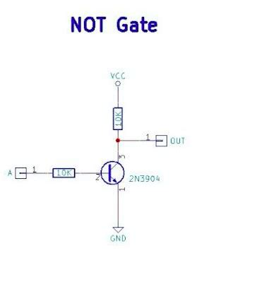 transistor not gate circuit retro electronics diy resistor transistor logic gates diy hacking