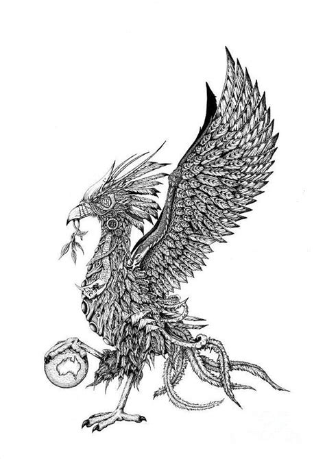 liver bird drawing by emma spears