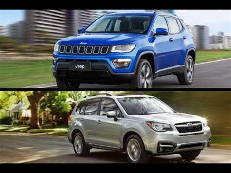subaru jeep 2017 2017 jeep compass vs 2017 subaru forester