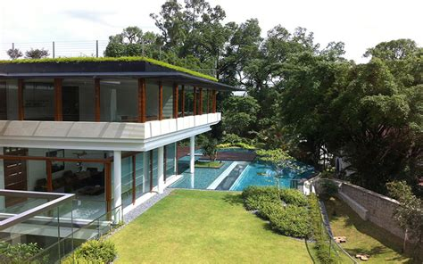 tropical bungalow inspired residence in singapore by guz