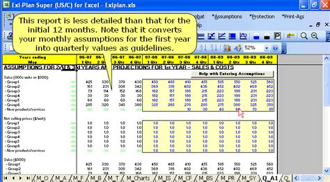 Descriptions Business Plan Software Template Financial Projections Cash Flow Plans Business Excel Assumptions Template