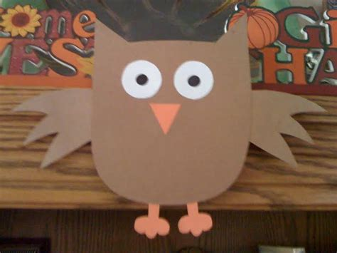 Owl Paper Crafts - easy craft for easy thanksgiving craft preschool