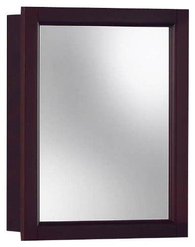 jensen 780989 sheridan framed medicine cabinet espresso