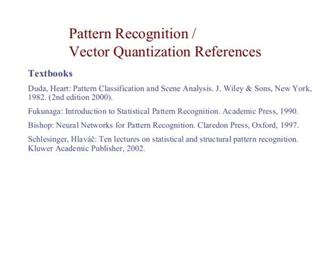 pattern classification and scene analysis bibtex lecture artificial neural networks and pattern recognition