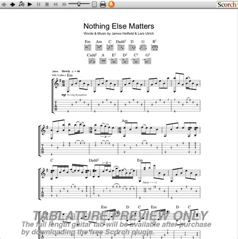 nothing else matters noten image of the beatles only a northern song guitar tab