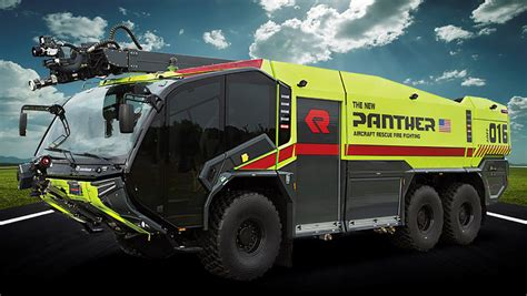 rosenbauer aircraft rescue  firefighting vehicle  powered  volvo penta