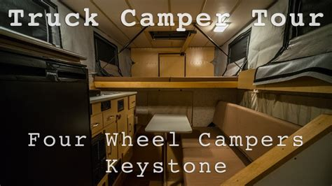 full tour of four wheel campers keystone popup truck