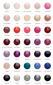 Carpet Gel Colors Carpet Manicure Colour Chart Nails