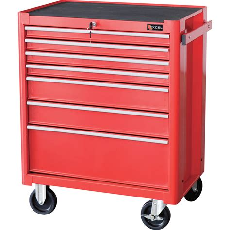Roller Cabinet Excel Roller Cabinet 27in 7 Drawers Model Tb2050bbsb