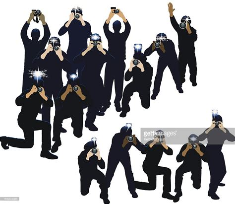 paparazzi clipart paparazzi photojournalists photographers vector