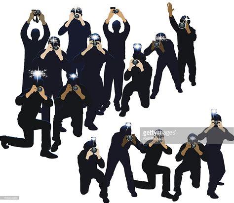 paparazzi clipart paparazzi photojournalists photographers vector