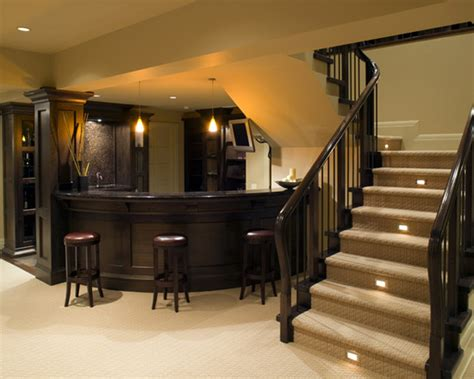 stair lighting basement design ideas pictures remodel