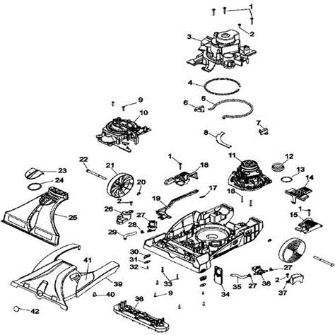 hoover carpet cleaner parts diagram hoover f7452 steamvac maxextract all terrain carpet washer