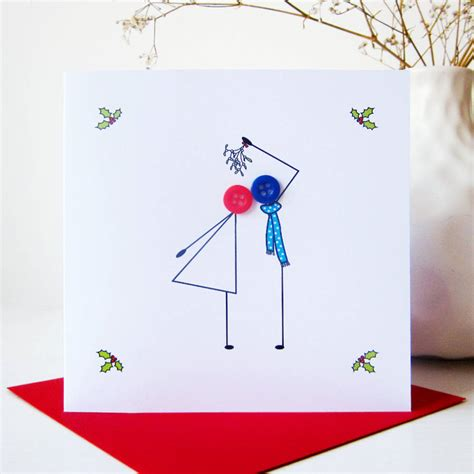 button card template mistletoe button card by mrs l