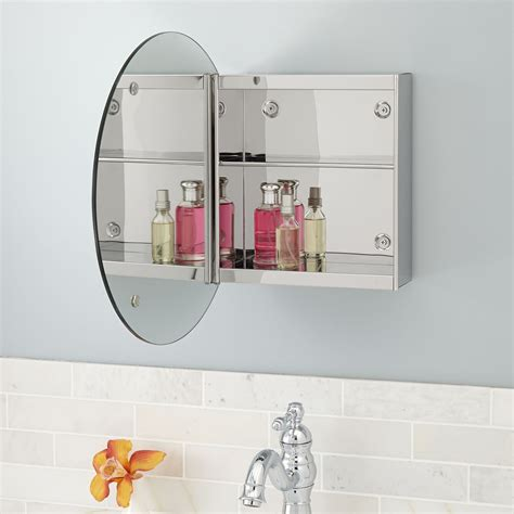 bathroom mirror cabinet round showcase series stainless steel medicine cabinet with
