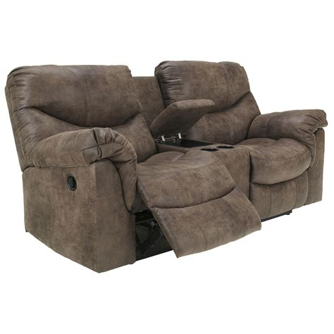 double reclining loveseat with console alzena double reclining loveseat with console 7140094