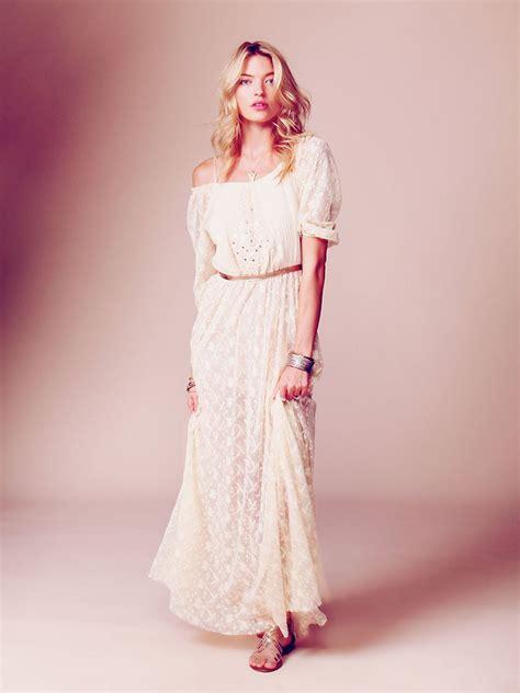 Robe Mariée Manche Longue Boheme - robe dentelle longue boheme robes de soir 233 e et mode femme