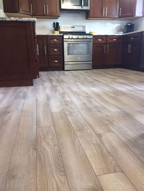 gray floor cherry cabinets   Google Search    Pinteres