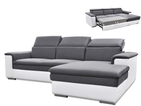 canap 233 d angle convertible connor avec t 234 ti 232 res relax 3