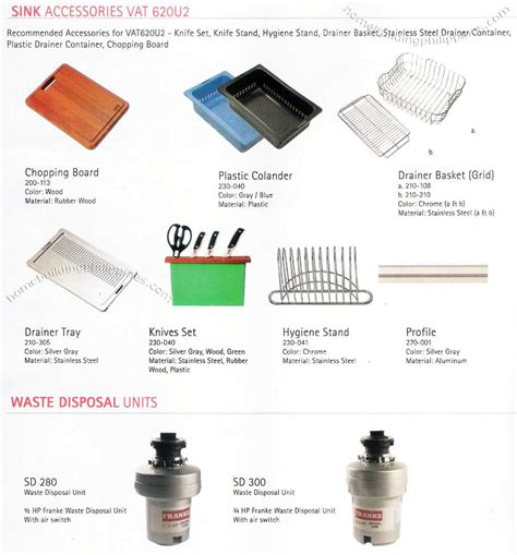 kitchen sink accessories waste disposal units philippines