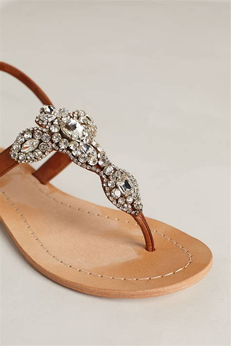 bead sandals antik batik allegretto beaded sandals in brown lyst