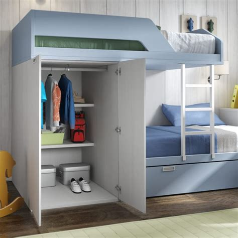 Bunk Beds With Wardrobe by Gallery Funky Bunk