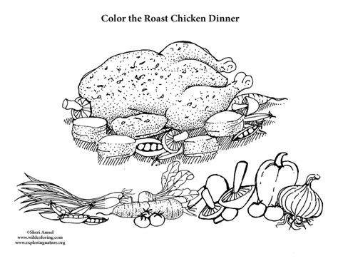 chicken dinner coloring page coloring chicken dinner coloring pages