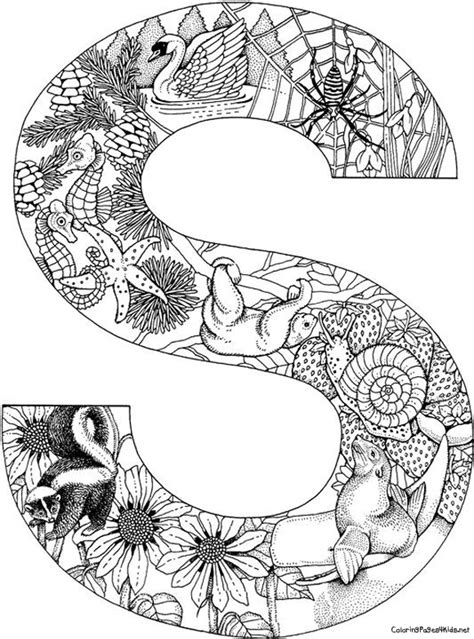 printable mandala letters animal alphabet letters coloring pages coloring page for