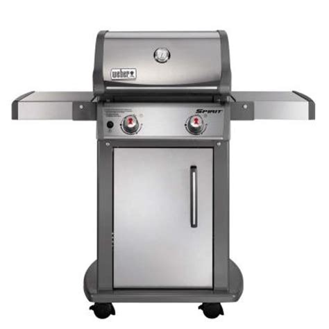 Small Weber Grill Home Depot Weber Spirit S 210 2 Burner Stainless Steel Propane Gas